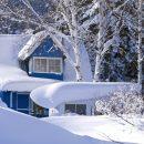 dacha in snowdrift